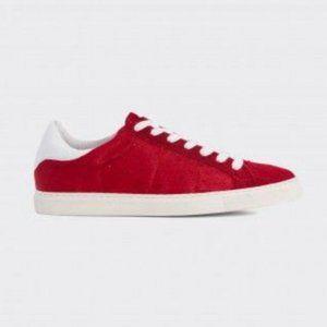 IRO Red Pony-Style Calfskin Sneakers 37